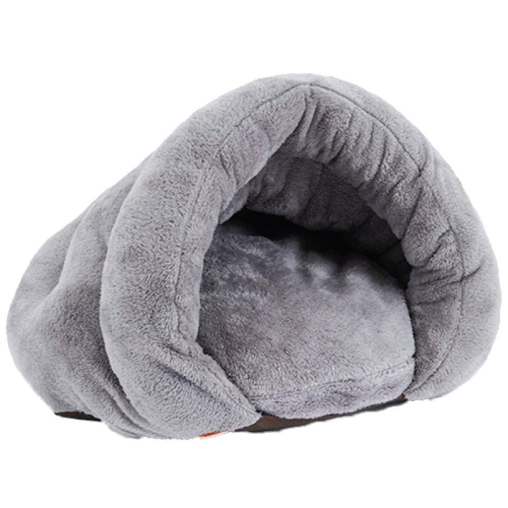 YANJJJ Lettiera per Gatti Cuccia   Nido per Animali Domestici, Sacco A Pelo per Mantenere Caldo in Inverno,grigio-S(50  50  36cm)