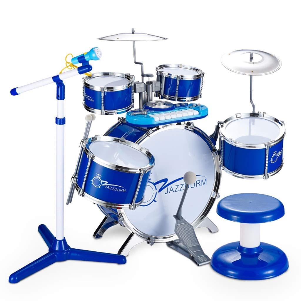 【メーカー再生品】 DUWEN 子供のドラム3-6歳のドラム楽器の玩具初心者のビート : (色 : B07KWRSPDB 青) 青 青 B07KWRSPDB, ニイガタシ:25a3aaa7 --- a0267596.xsph.ru