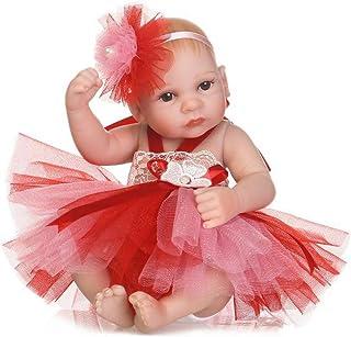 IIWOJ Mini Reborn Baby Doll 26Cm Big-Eyed Silicone Ragazza Bambola Regalo di Natale