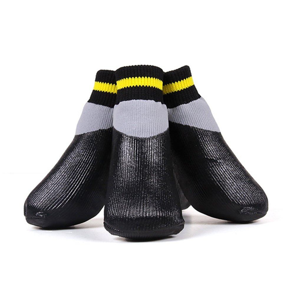 WORDERFUL Pet Socks Dog Sport Paws Protector Sports Socks Boots Dog Winter Waterproof Anti-Slip Knit Socks (#5)