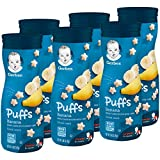 Gerber Puffs Cereal Snack, Banana, 1.48 Ounce, 6 Count ( Pack May Vary )