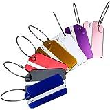 Hibate Metal Luggage Tags Suitcase Bag Labels Baggage Travel Accessories- Set of 7