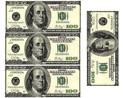 Edible 100 Dollar Bills Frosting Sheet. Real Looking Edible Money,Green - D22887 by Art of Eric Gunty
