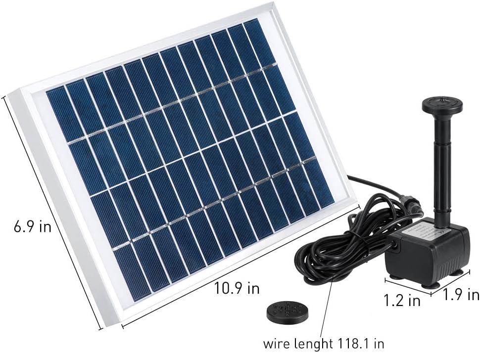 Decdeal Bomba solar de ciclo de agua 5W para fuente de piscina ...