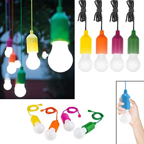 4 bombillas de LED Inalámbrico Handy Lux Color que ilumina con un click