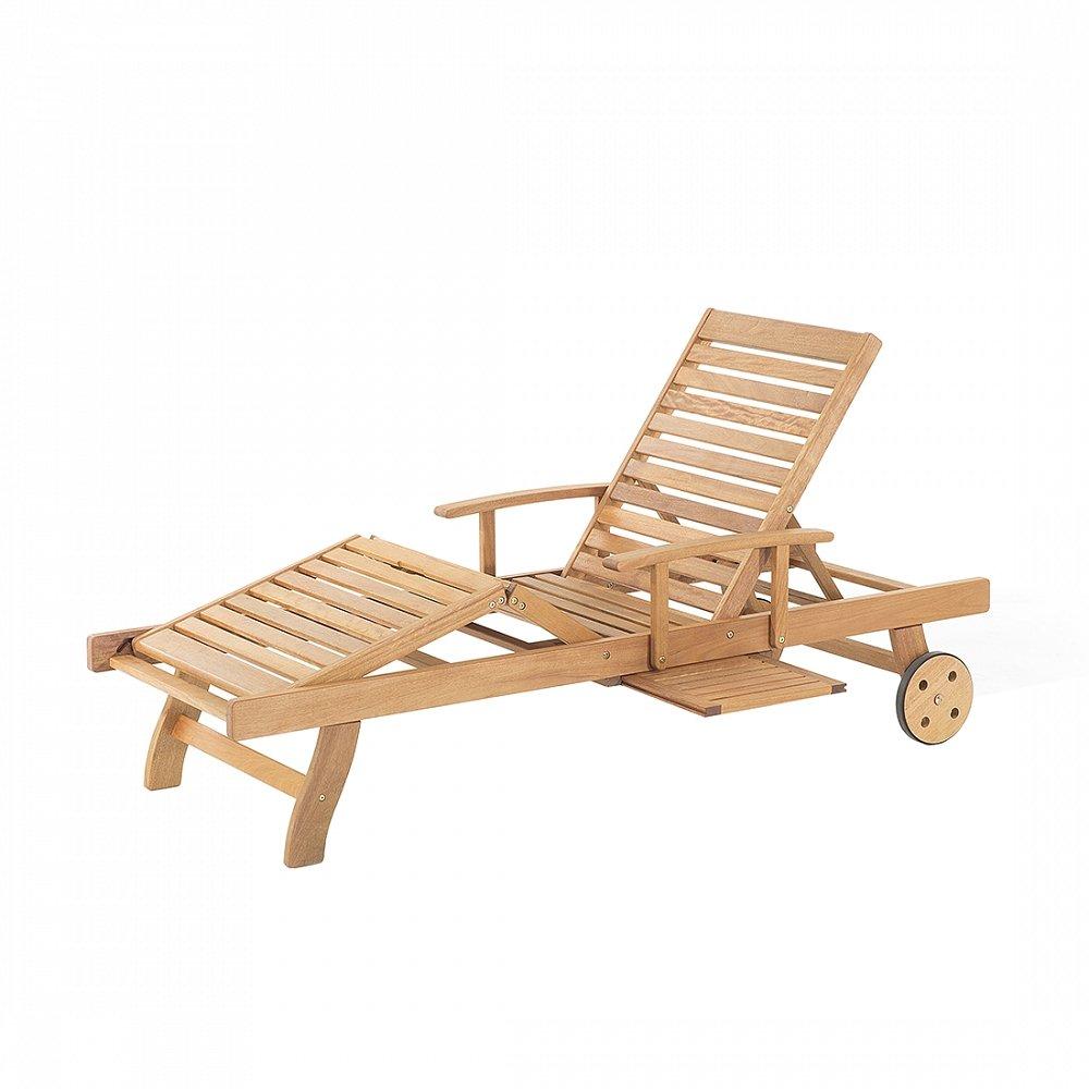 Gartenliege aus White Balau - Holzliege - Liegestuhl - Sonnenliege -JAVA
