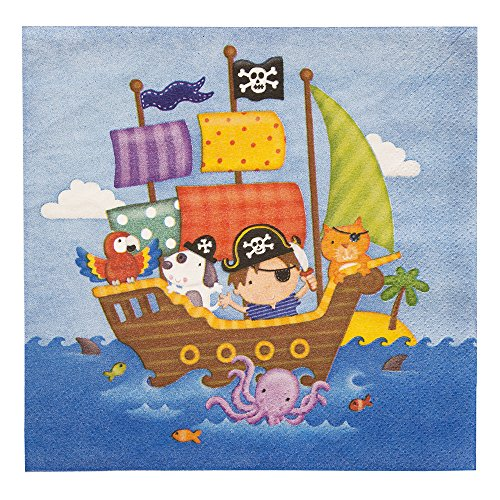 Pirate Ship Party Napkins 20ct