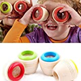 1Pc Children Wooden Magic Kaleidoscope Kids Baby Learning Puzzle Educational Toy Random Color