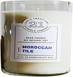 product image for Circle 21 Candles Moroccan Tile Scented Soy Candle, Clear