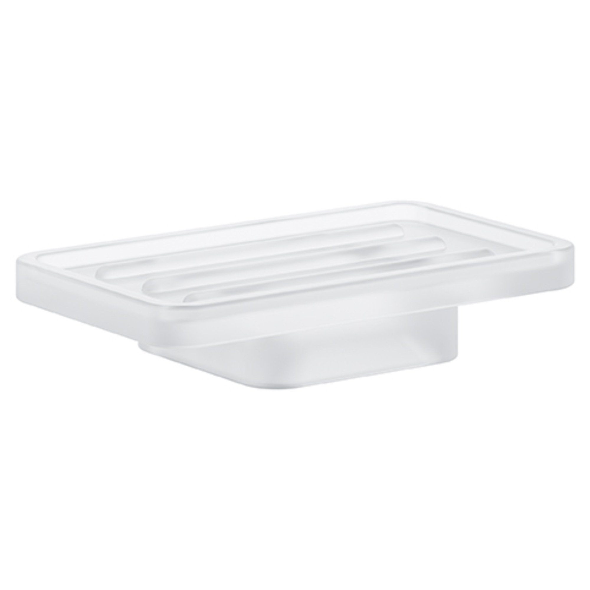 GROHE 40806000 Selection Cube Soap Dish, Starlight Chrome