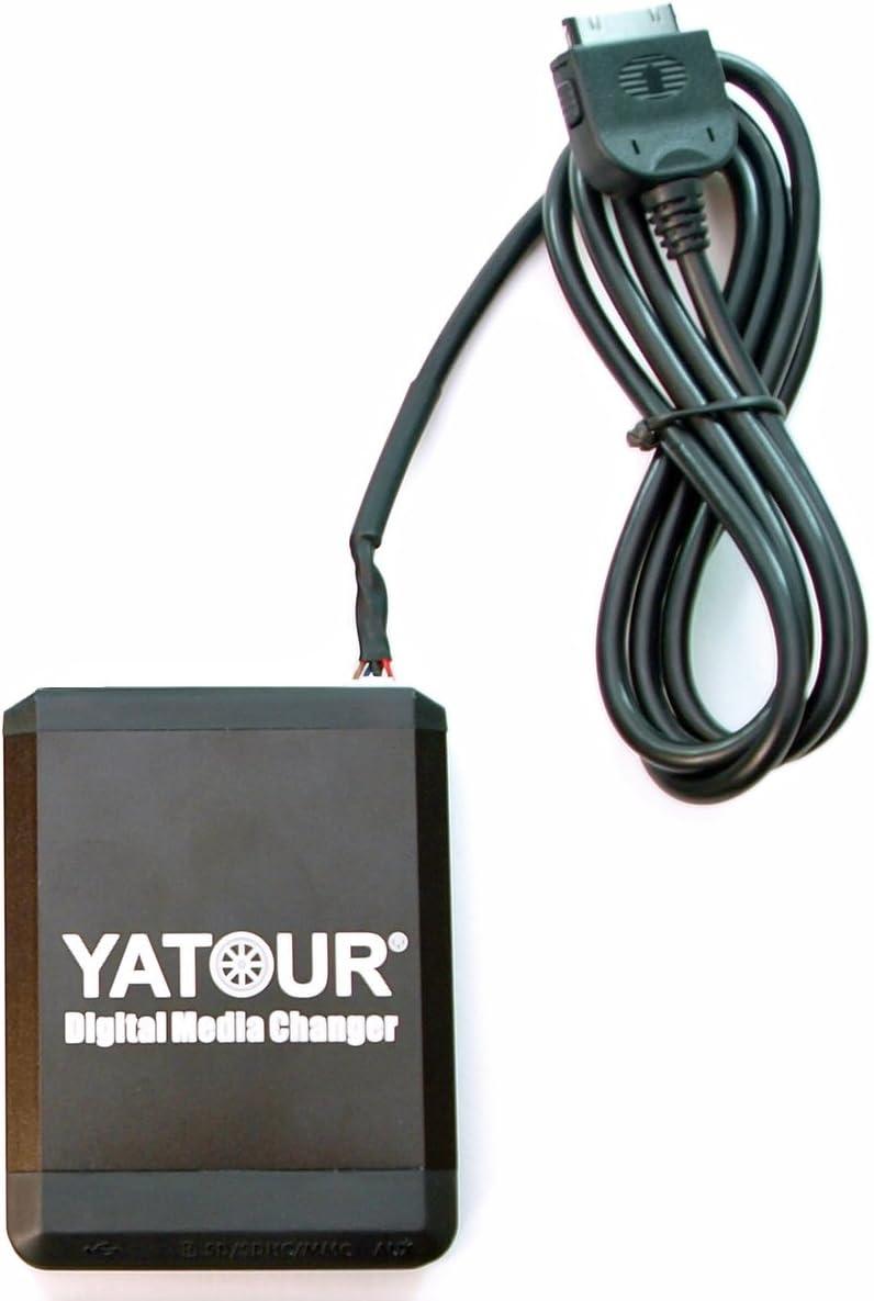Yatour YT-M07-TOY2 Digitaler Musikadapter f/ür USB iPad AUX,f/ür Toyota Lexus CD-Wechsler SD kompatibel mit iPhone,iPod