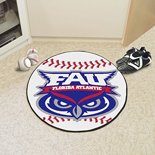 Fanmats Sports Team Logo Florida Atlantic University Baseball Mat ()