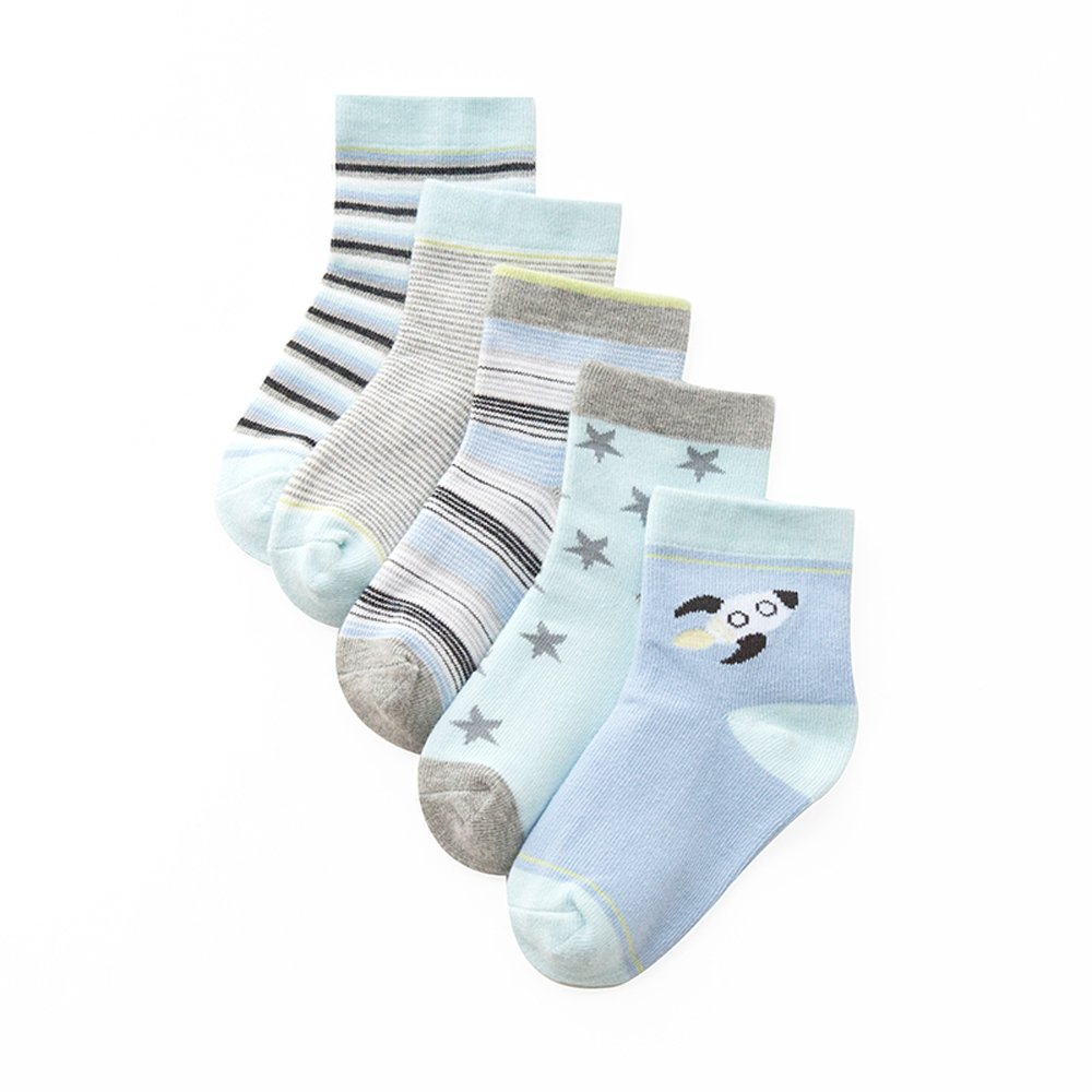 Oliked 5 pairs of Children's Boys Girls cute cotton socks Age 1 to 12