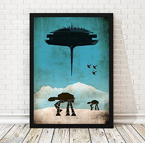 or A3+ The Empire Strikes Back A3 A New Hope Return of the Jedi Star Wars Trilogy Episode 4-5-6 Minimalist Movie Artwork Set 11.7x16,5 inches Unframed Print 13x19 inches