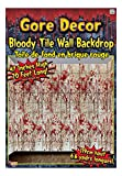 Kitchen & Housewares : Forum Novelties Gore Decor Bloody Tile Wall Backdrop, Multicolored