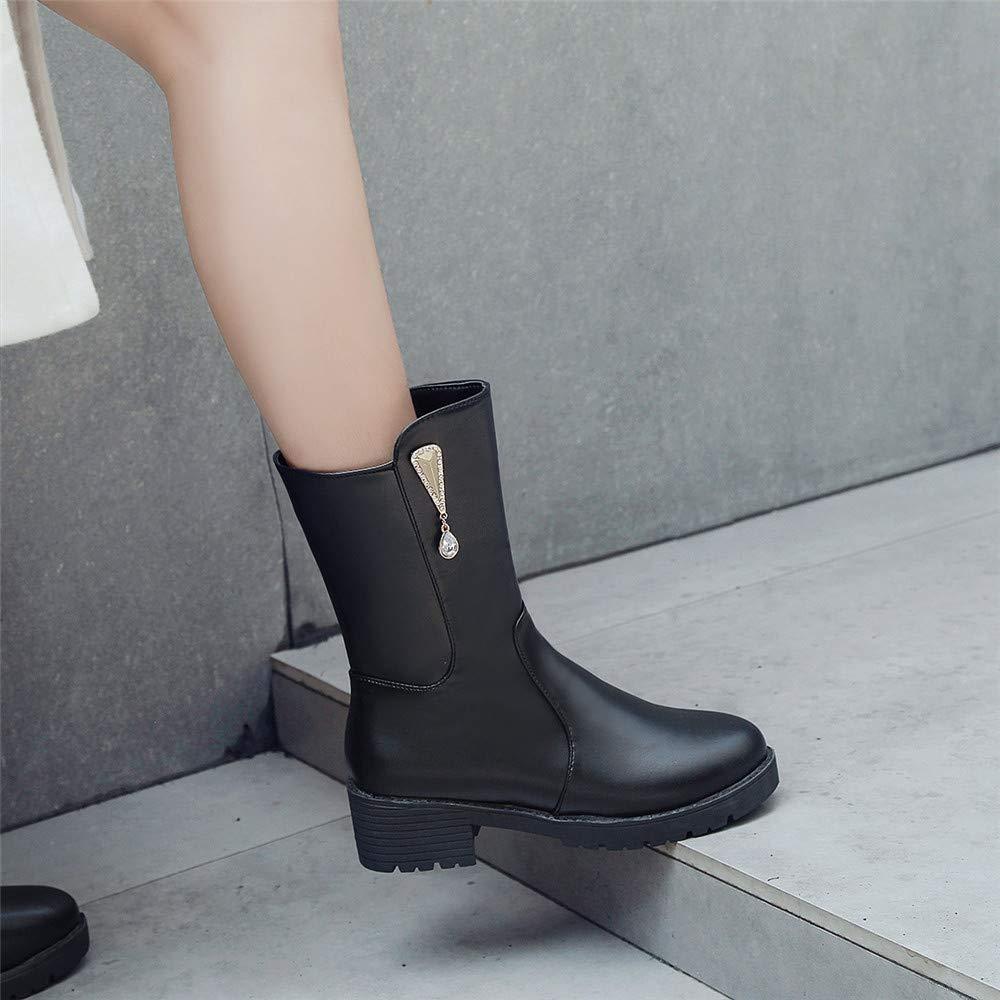 High High High Heels In der Tube Martin Stiefel warme Ritter Stiefel bequemer weiblicher Komfort (Farbe   EU 40, Größe   schwarz (Pearl)) c81dae