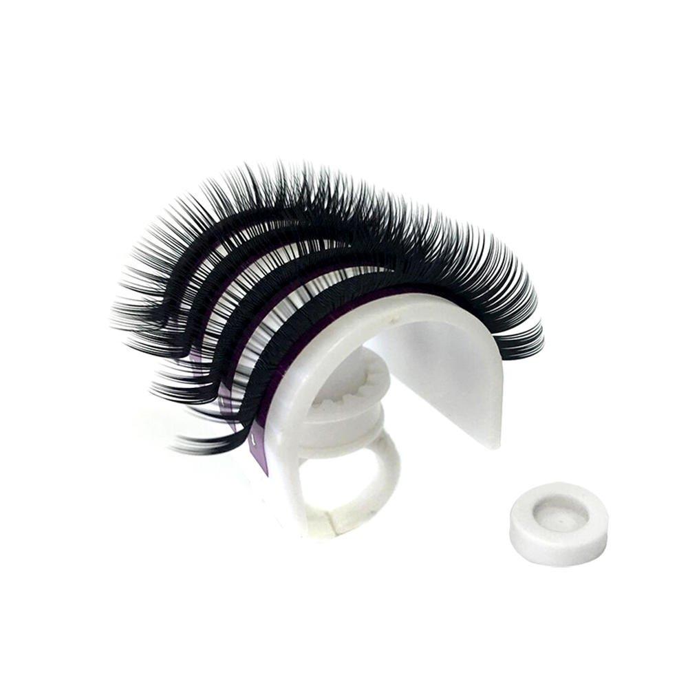 Werkzeug Klebstoff Ring Eye Lash Halter Veredlung Wimper Palette Make-Up Kit Greatmin