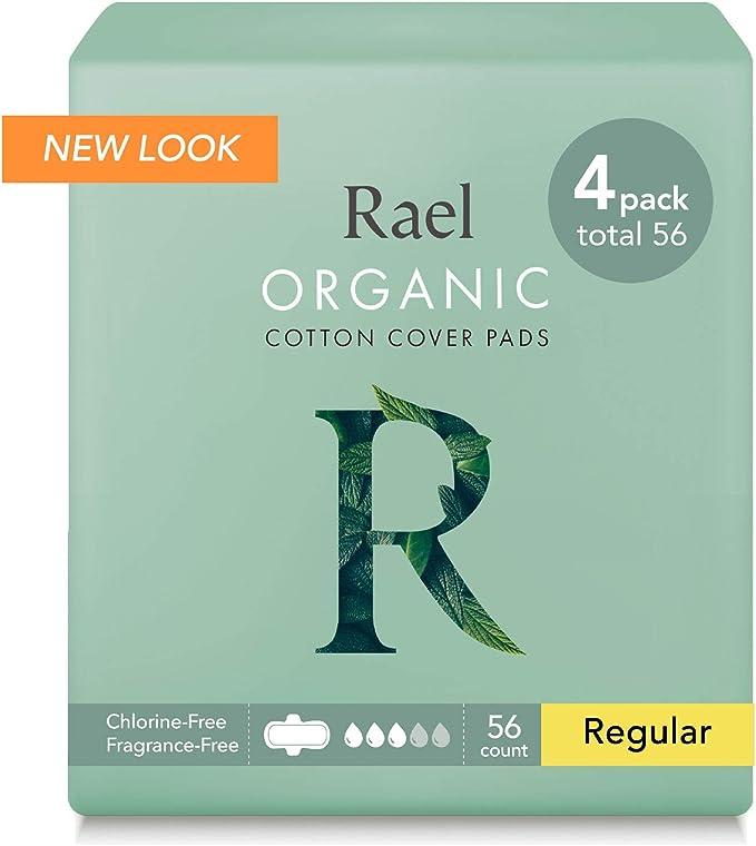 Rael Compresas 100% algodón ecológico, regular ultrafinas con alas: Amazon.es: Salud y cuidado personal