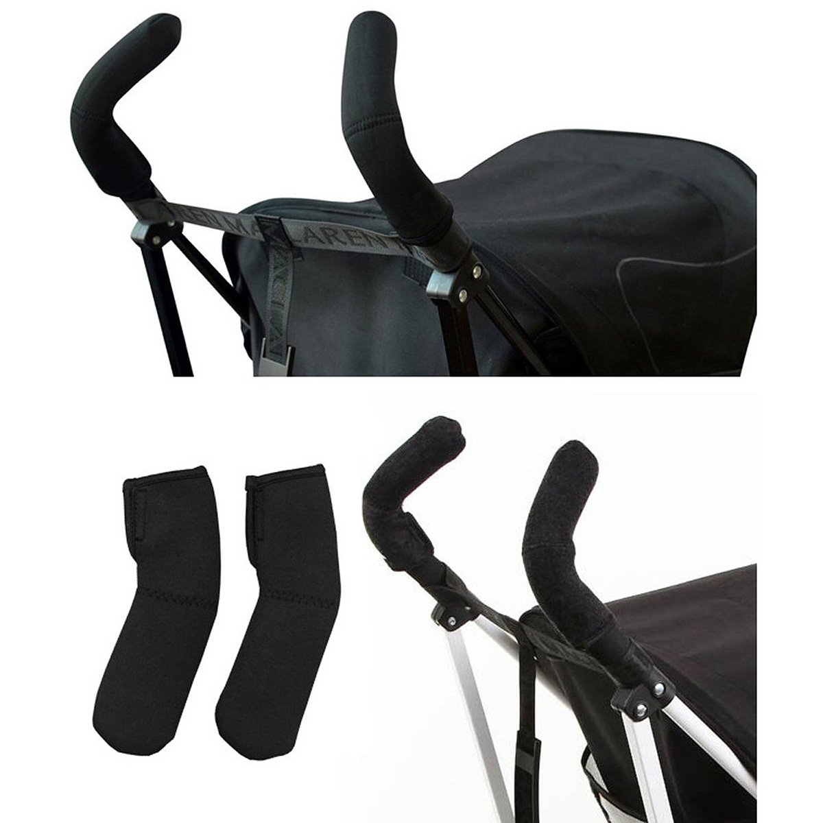 NUOLUX silla de paseo mango cubre mango Bar Grips–estirable Universal Fit