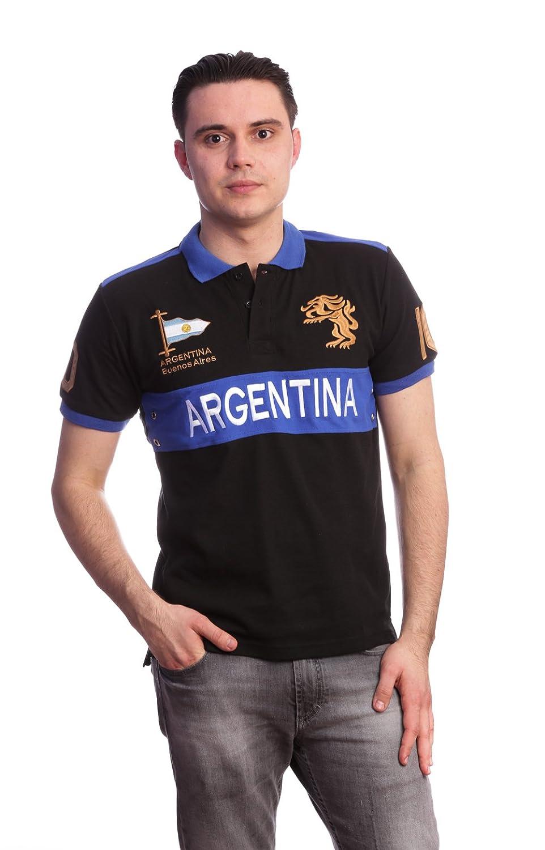 Hombres Slim Fit País shirt- Polo Argentina (Tamaño Grande), color ...