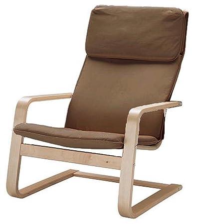 ¡Solo cubierta! ¡La silla no está incluida! El reemplazo de las fundas de la silla de algodón está hecho a medida para el sillón IKEA Pello. Color ...