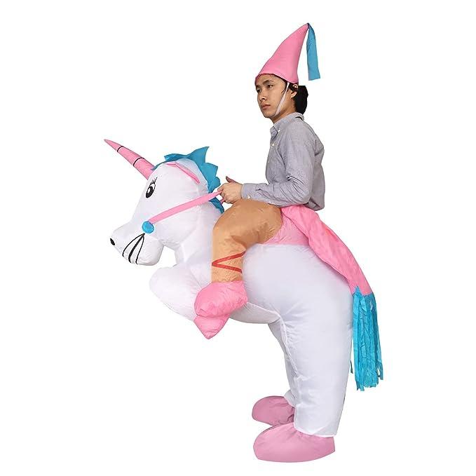 Amazon.com: bigpets hinchable unicornio disfraz de Rider ...