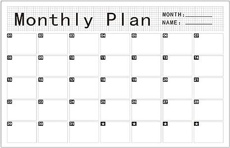 Calendario de pegatinas para planificador de pizarra