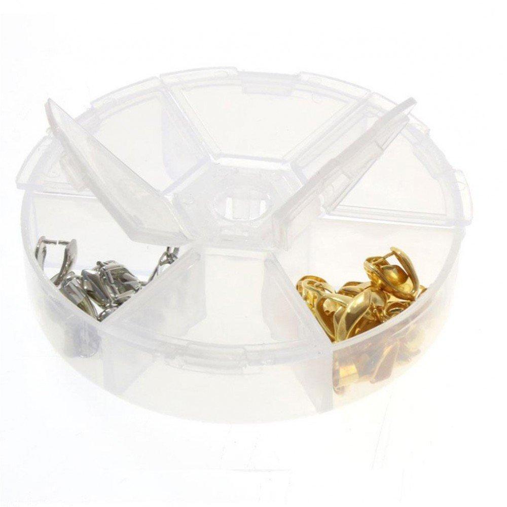 Cofanetti e scatole scatola di perline accessori gioielli 6scomparti, traslucido, cod. SKU013937 Présentoirs pour bijoux