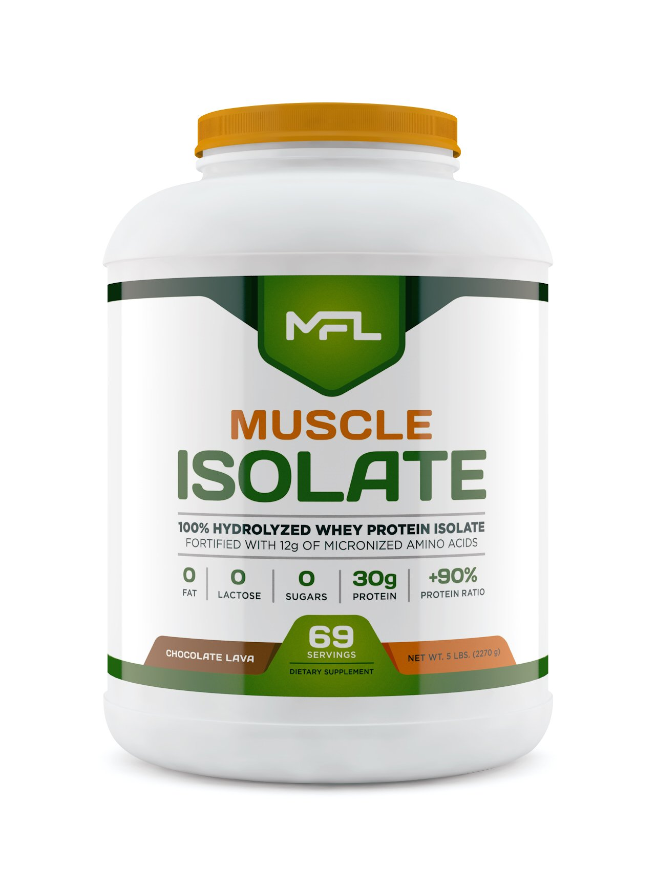 MUSCLE FOOD LABS Muscle Isolate, 5 pounds (Chocolate Lava)