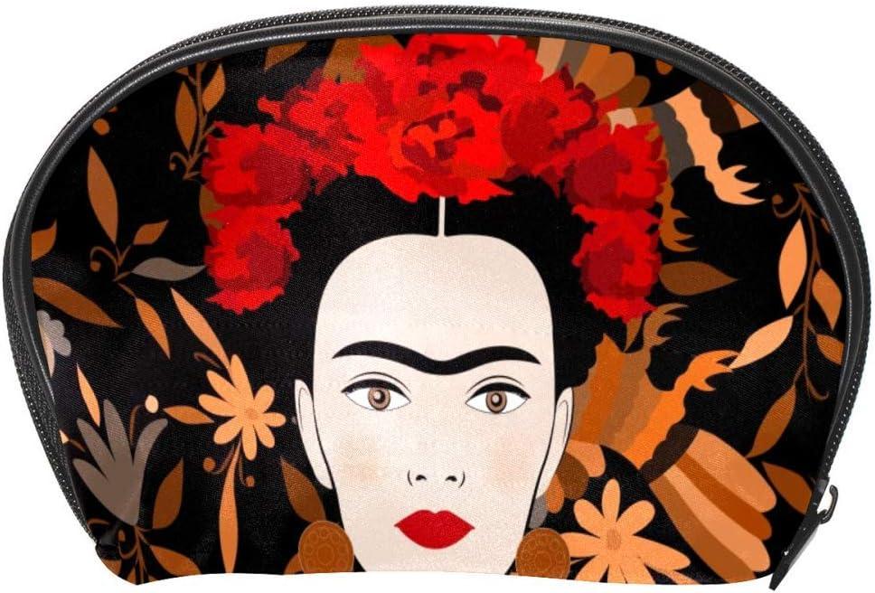 TIZORAX Frida Kahlo Sac /à maquillage traditionnel pour femme mexicaine Sac de voyage Organiseur pratique Sac de maquillage Sac /à main pour femmes filles