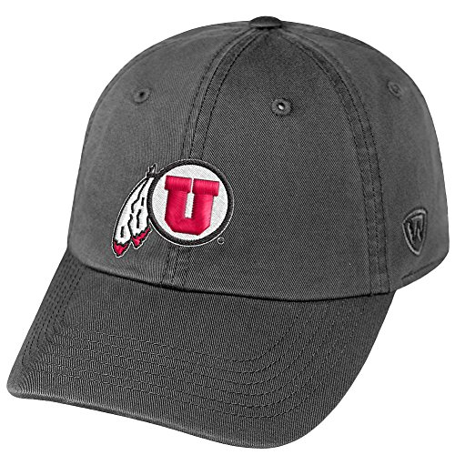 (Top of the World NCAA Utah Utes Men's Adjustable Relaxed Fit Charcoal Icon Hat, Charcoal)