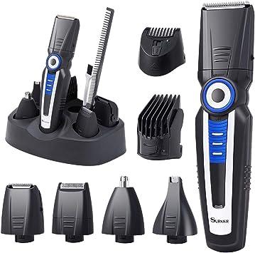 Cortapelos para barba, cortapelos para pelo del cuerpo eléctrico ...