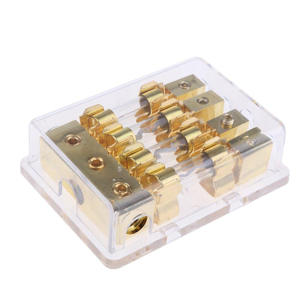 Supporto Di Distribuzione Universale Per Portafusibili Da 60A Per Auto Con Portafusibile Dorato FH-001-100 x 46 x 30mm 2 vie