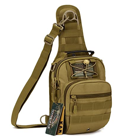 d314faa30893 IDOGEAR Tactical Sling Bag Pack Small EDC Molle Assault Range Rucksack  Military Army Shoulder Daypack Outdoor Rover Sling Backpack Chest Pack with  USA ...