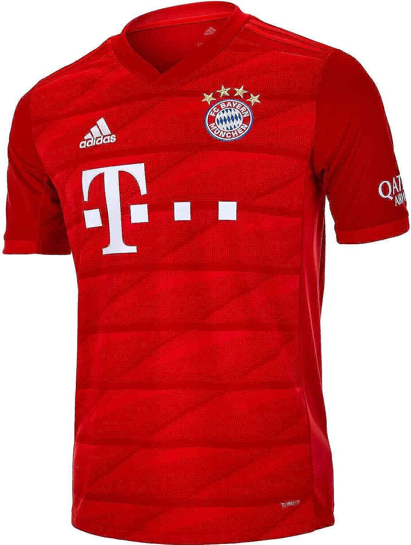 Amazon Com Adidas Youth Fc Bayern 19 20 Home Jersey Clothing