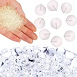 Water Beads Clear 10000pcs 7.1 oz Pack Magic Soil Crystal Mud Water Gel Bead Craft Vase Fillers Jelly Growing Balls for Orbeez Spa Refill Kids Tactile Sensory Toys Bamboo Plants Decoration (Clear)