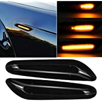 GUANGGU Turn Signal Light Dynamic Side Indicator Flowing Side Marker Repeater Smoke Compatible with O-pel V-auxhall Adam Astra H Corsa D Corsa E Insignia A Meriua B Zafira B