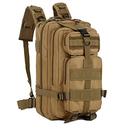Ashley city P 3 Mochilas Deporte al Aire Libre Militar de tácticas con Bolsa Trekking Mochila