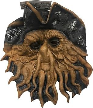 MyPartyShirt Máscara de Calamar Pirata Davy Jones Piratas del Caribe Cthulu Octopus Sea Costume: Amazon.es: Juguetes y juegos
