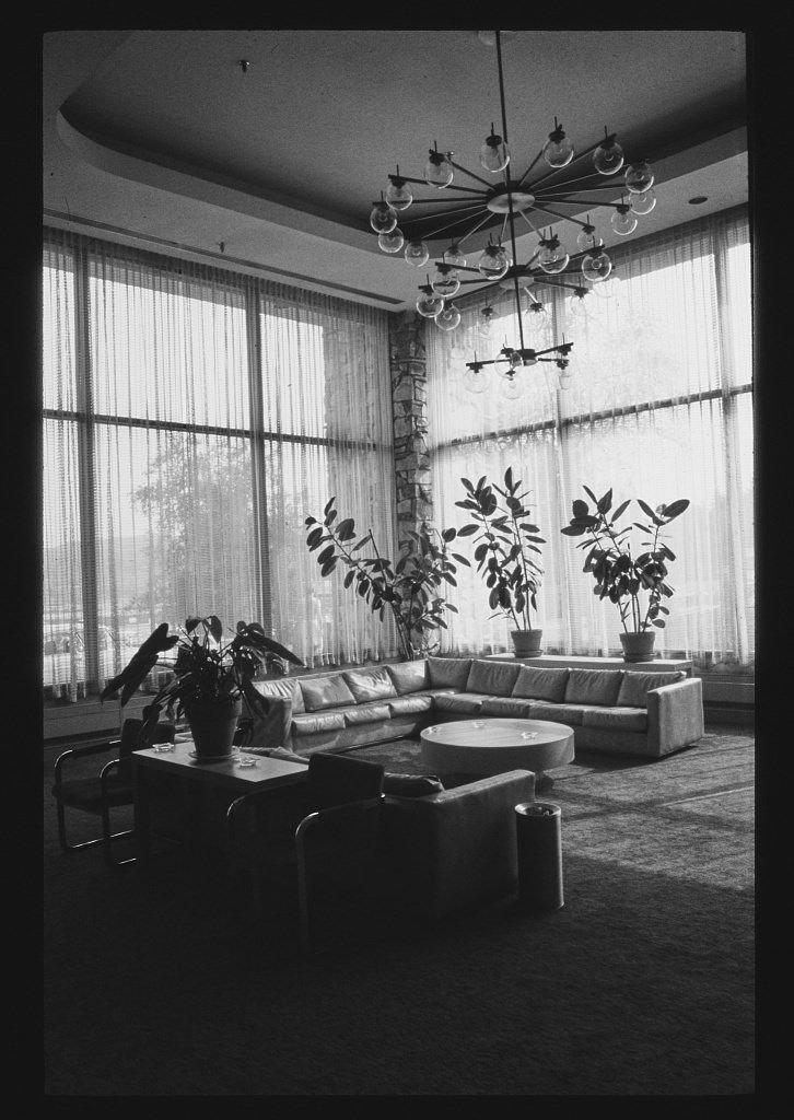 Vintography 8 x 12 BW Photo of: Stevensville, main lobby, Swan Lake, New York 1977 Roadside America Margolies, John, 97n