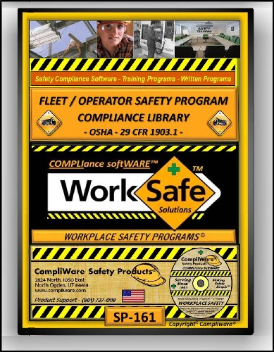 SP-161 - FLEET - VEHICLE - DRIVING - OPERATIONS SAFETY COMPLIANCE LIBRARY (GENERAL INDUSTRY & CONSTRUCTION) - OSHA - 29CFR1903.1 - UPC - 639737375480