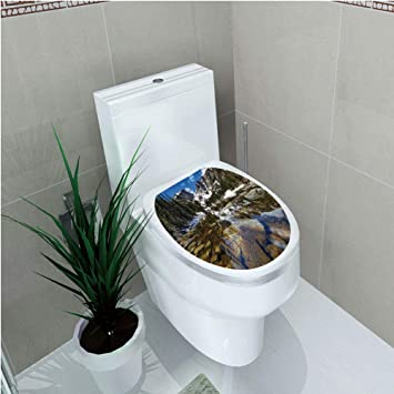 Amazon.com: Toilet Cover Sticker,Lake House Decor,Dream ...