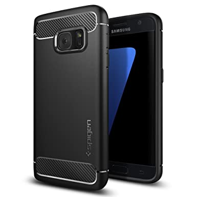 promo code a3a79 6d590 Spigen Galaxy S7 Case [Rugged Armor] Original Patent Carbon Fiber Design  Galaxy S7 Cover Shock Absorption - 555CS20007 [Black]