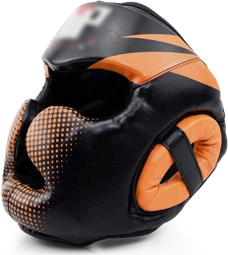 YUANZHU Headguard for Boxing Boxing Headgear with Cheeks Protection for Muay Thai Grappling Sparring Kickboxing Karate Taekwondo Martial Arts