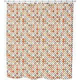 Autumnal Star Bingo Shower Curtain: Large Waterproof Luxurious Bathroom Design Woven Fabric