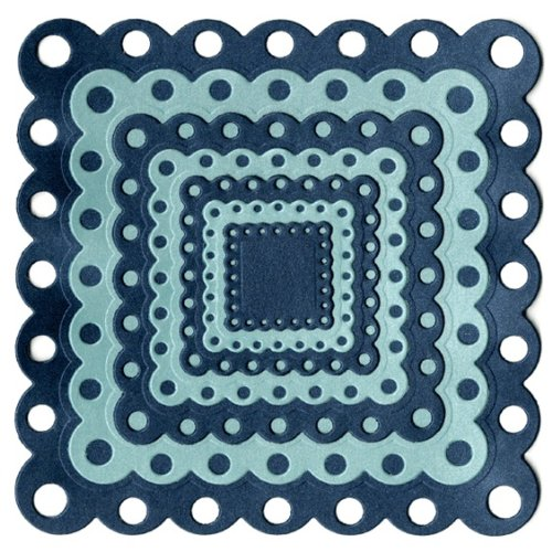 (QUICKUTZ We R Memory Keepers Nesting Eyelet Squares Cookie Cutter Die)