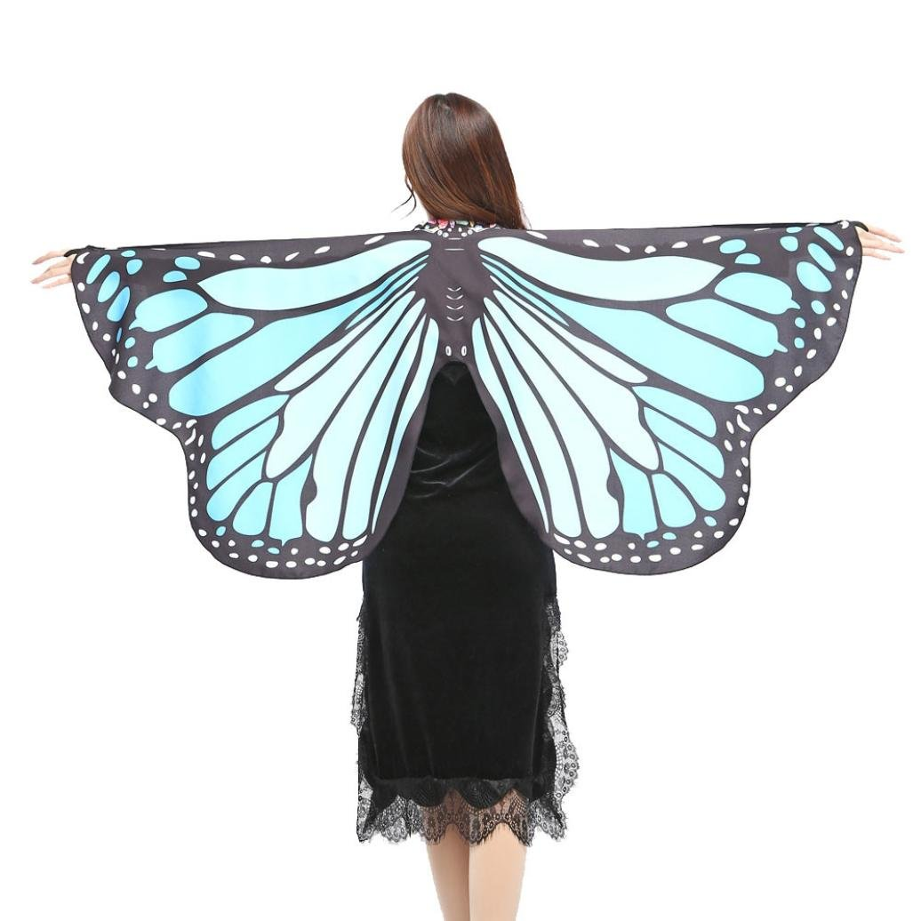 VESNIBA Women Butterfly Wings Shawl Scarves Nymph Pixie Poncho Costume by Green) VESNIBA-1225