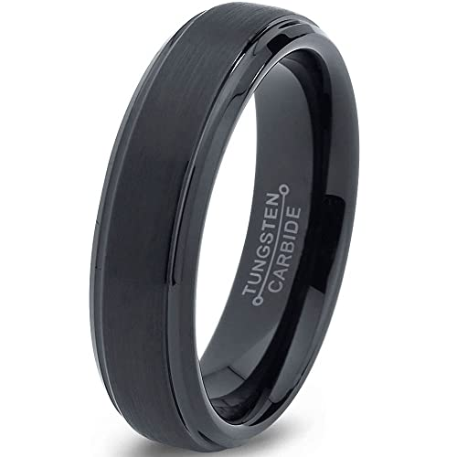 Amazoncom Tungsten Wedding Band Ring 6mm for Men Women Comfort