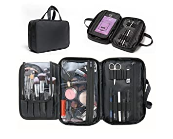 cc69d6506036 Makeup Bag   Cosmetic Travelling Organizer. Multifunctional Waterproof  Appropriate Capacity Storage Case Divided Compartments with