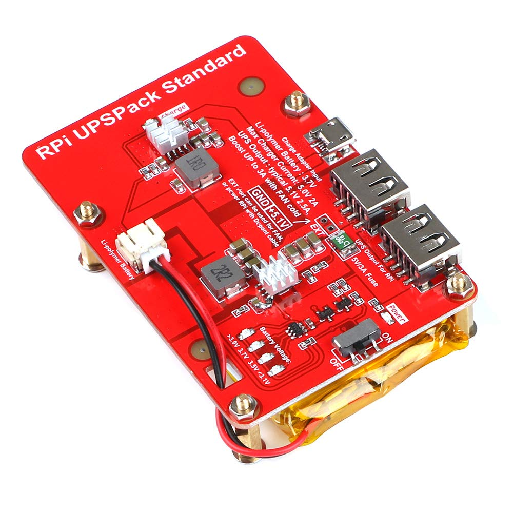 MakerFocus Raspberry Pi Battery Pack,(Raspberry Pi Battery, USB Battery Pack Raspberry Pi,) Expansion Board Power Supply with Switch for Cellphone and Raspberry Pi 3 Model B B+ and Pi 2B B+ by MakerFocus (Image #6)
